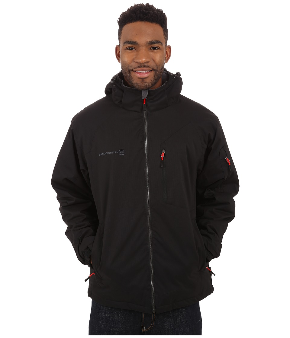 Free Country - Cubic Dobby (Black) Men's Coat