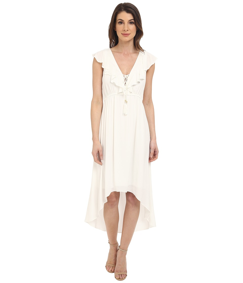 Hale Bob - The Hole Story High-Low Dress (White) Women's Dress