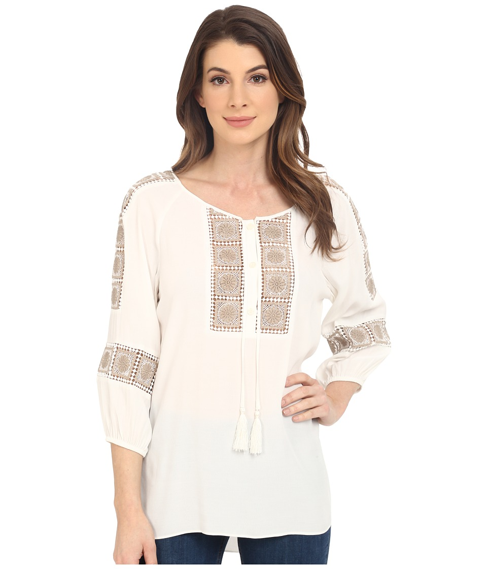 Hale Bob - Urban Bohemian Top (Ivory) Women's Long Sleeve Pullover