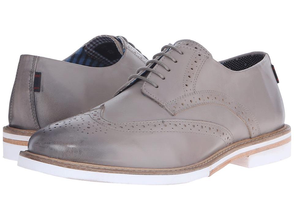 Ben Sherman - Julian Wingtip (Grey) Men's Lace Up Wing Tip Shoes