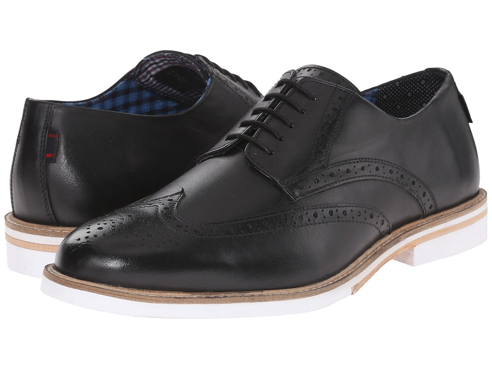 Ben Sherman - Julian Wingtip (Black) Men's Lace Up Wing Tip Shoes
