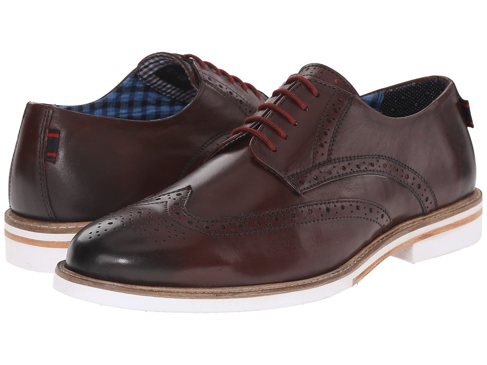 Ben Sherman - Julian Wingtip (Burgundy) Men's Lace Up Wing Tip Shoes