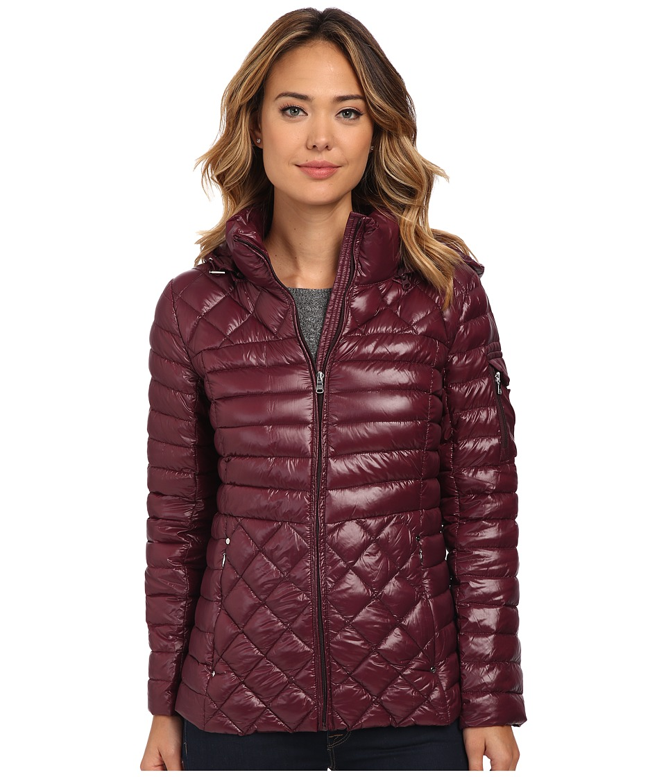 LAUREN Ralph Lauren - Packable Down with hood (Wine) Women's Coat