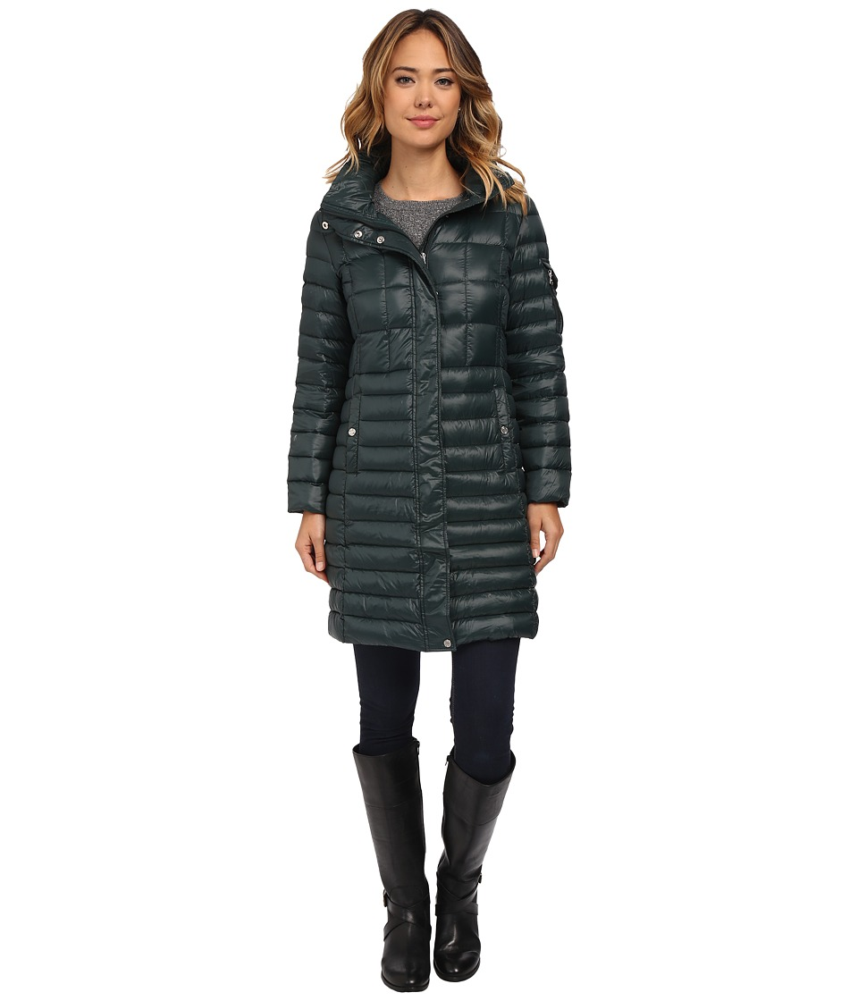 LAUREN Ralph Lauren - Multi Quilt w/ Removable Hood (Forest Green) Women's Coat