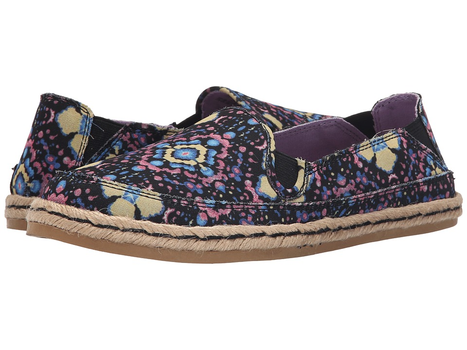 Hush Puppies - Cassie Kelli (Purple Floral) Women's Slip on Shoes