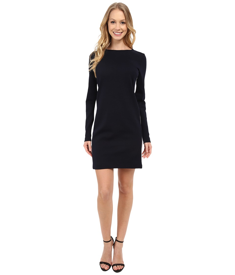 MICHAEL Michael Kors - Side Stripe Long Sleeve Dress (New Navy) Women