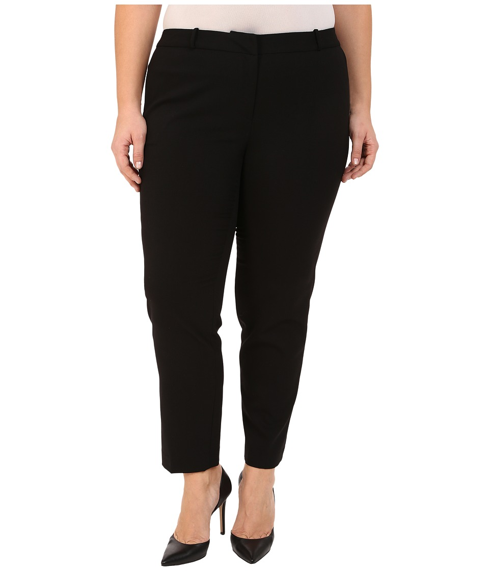 MICHAEL Michael Kors - Plus Size Wellesley Ankle Pants (Black) Women's Casual Pants