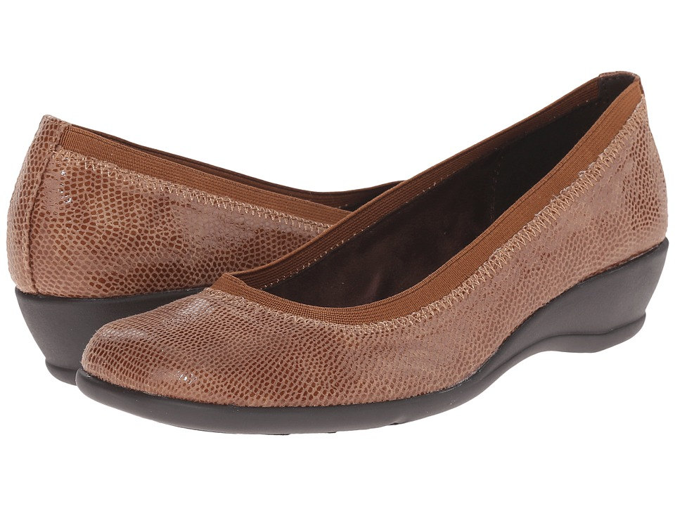 Soft Style - Rogan (Taupe Lizard) Women's Flat Shoes