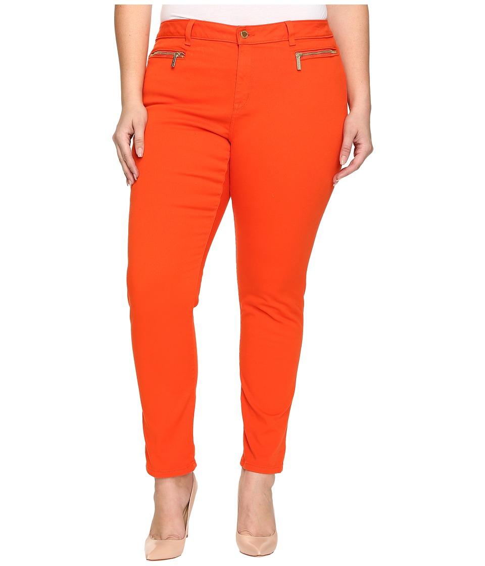 MICHAEL Michael Kors - Plus Size Skinny Jeans w/ Zip (Mandarin) Women's Jeans