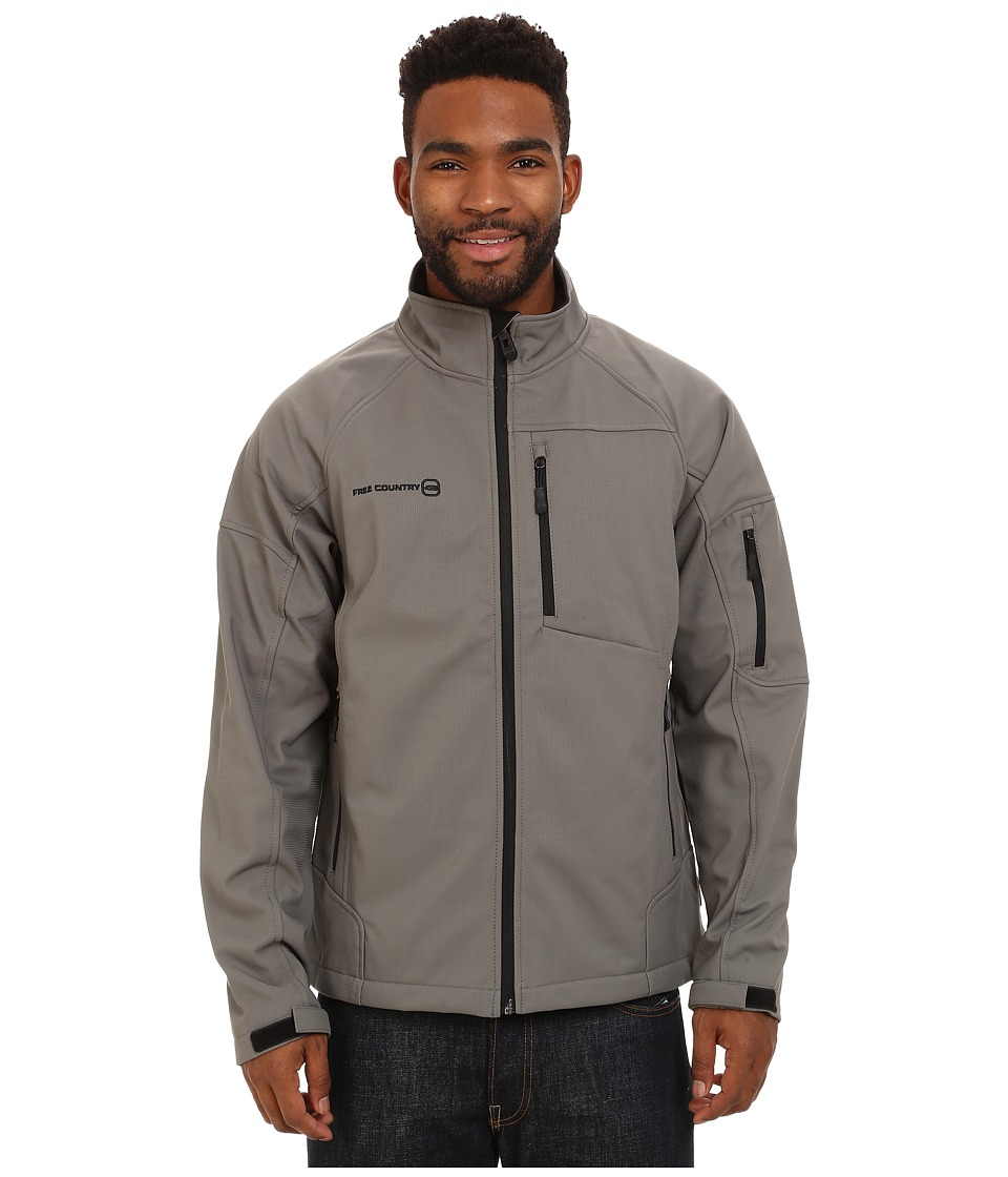 Free Country - Cubic Dobby Softshell (New Grey) Men