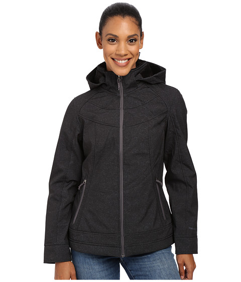 Free Country - Butterpile Softshell (Black/Heather Ice/Mineral Grey Pop) Women