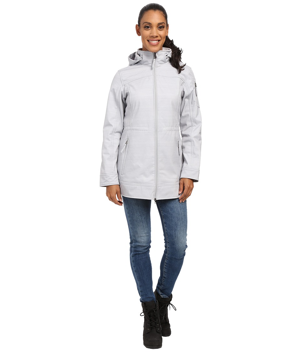 Free Country - Butterpile Softshell Anorak (Winter Silver/Striped Melange) Women's Coat
