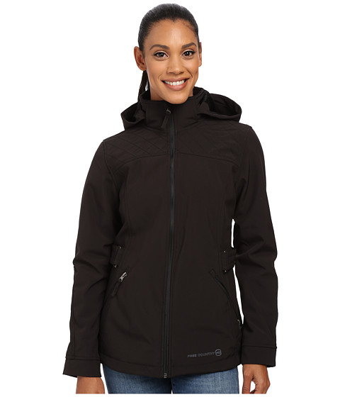 Free Country - Butterpile Softshell (Black Solid) Women's Clothing