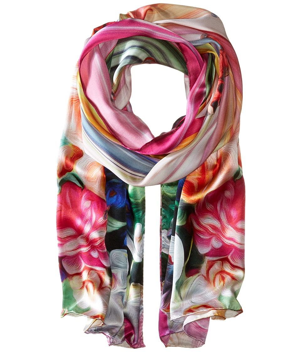 Ted Baker - Adita Floral Swirl Long Scarf (Fuchsia) Scarves