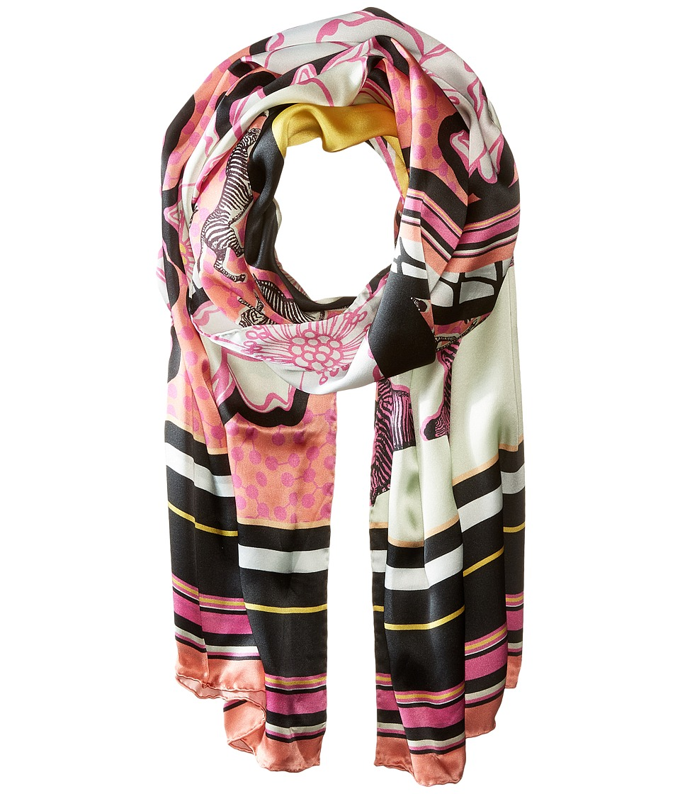Ted Baker - Dion Zebra Tribal Long Scarf (Fuchsia) Scarves