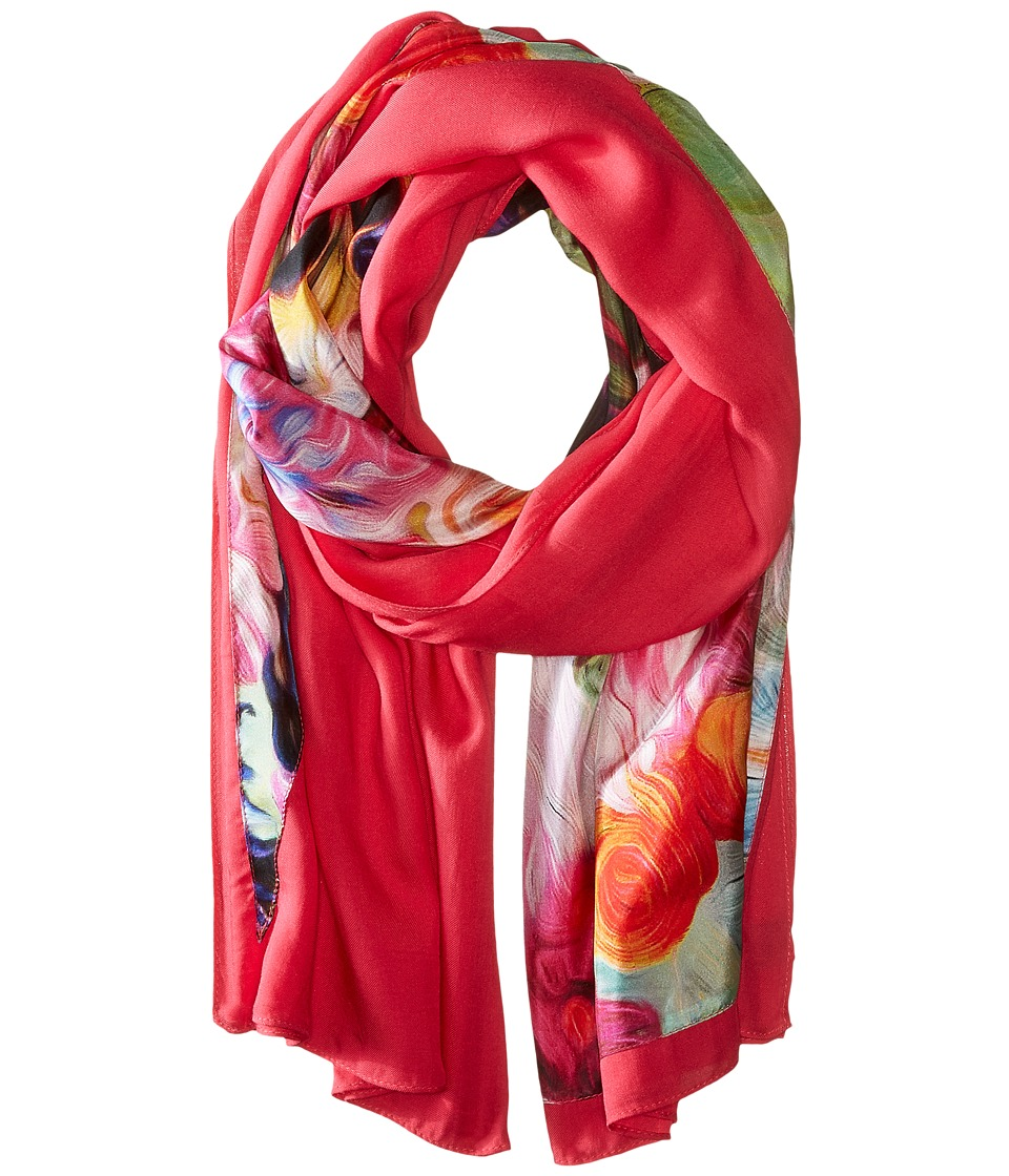 Ted Baker - Elye Floral Swirl Split Scarf (Fuchsia) Scarves