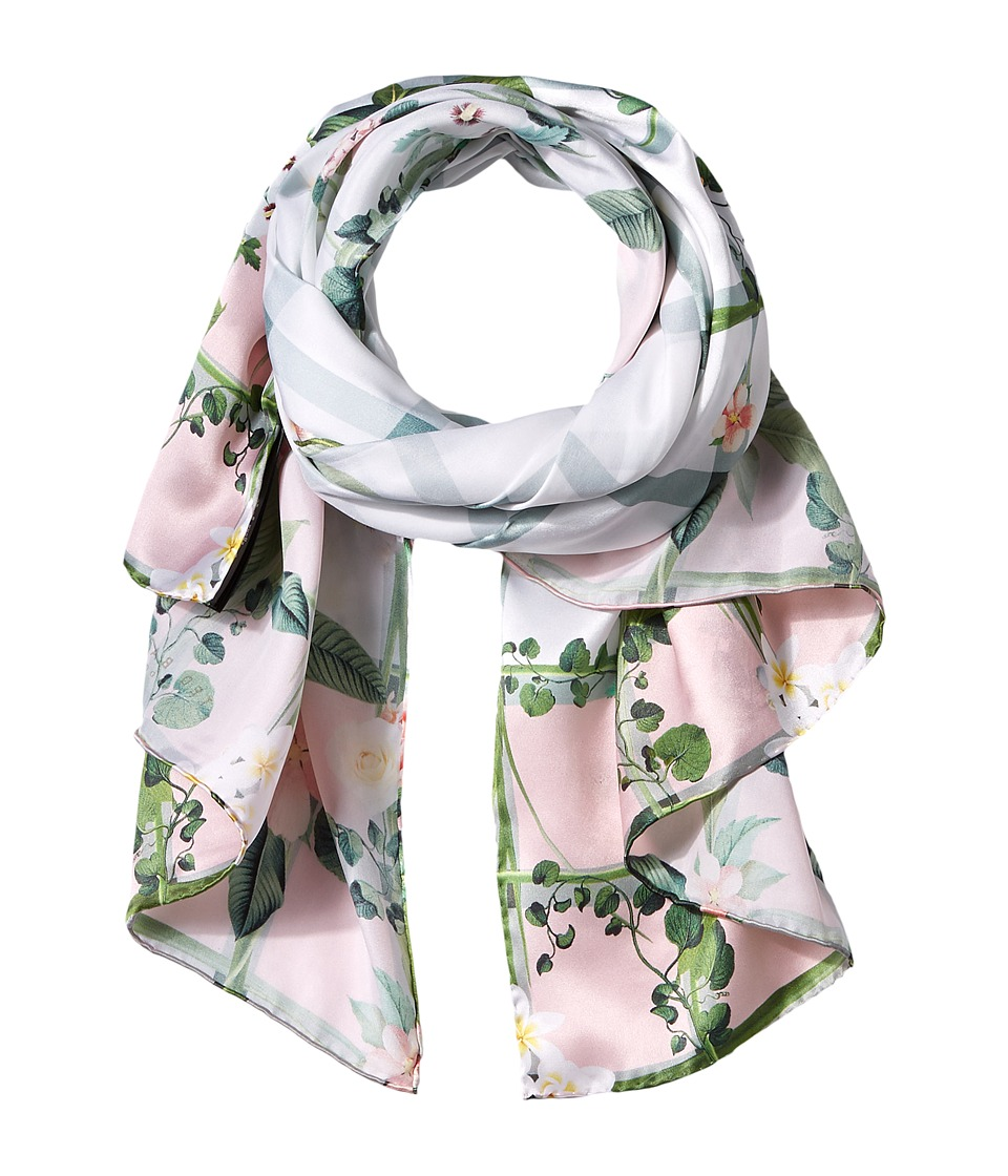 Ted Baker - Ally Secret Trellis Long Scarf (White) Scarves