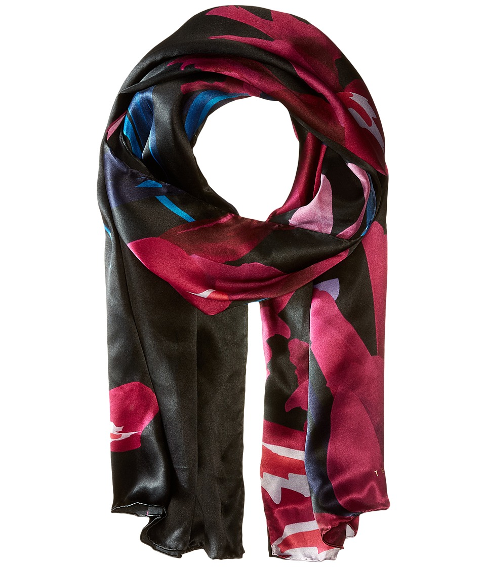 Ted Baker - Susane Stencilled Stem Long Scarf (Deep Pink) Scarves