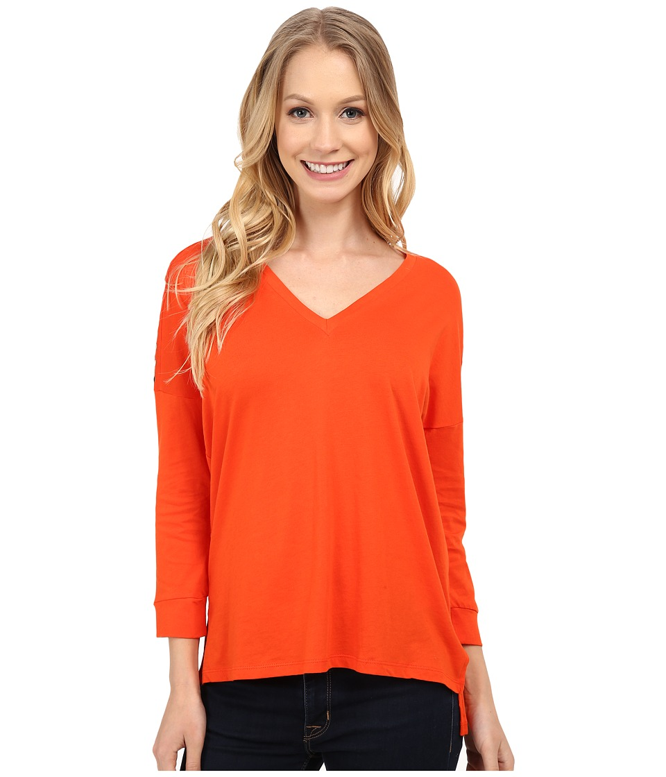 MICHAEL Michael Kors - Stud Shoulder 3/4 Sleeve V-Neck (Mandarin) Women's Clothing