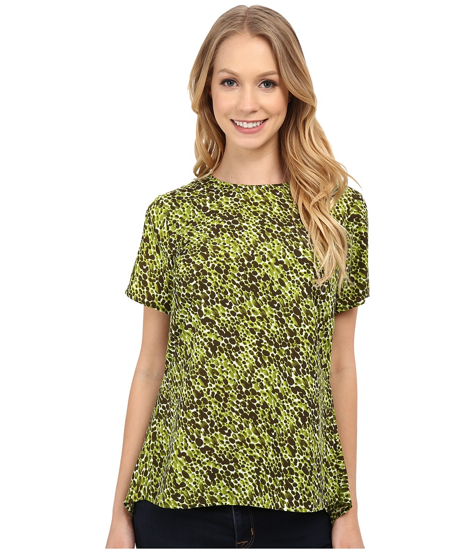 MICHAEL Michael Kors - Mini Emerson Peplum (Fresh Lime) Women's Blouse