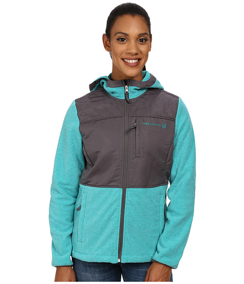 Free Country - Heather Fleece (Fashion Teal/Light Grey) Women's Fleece