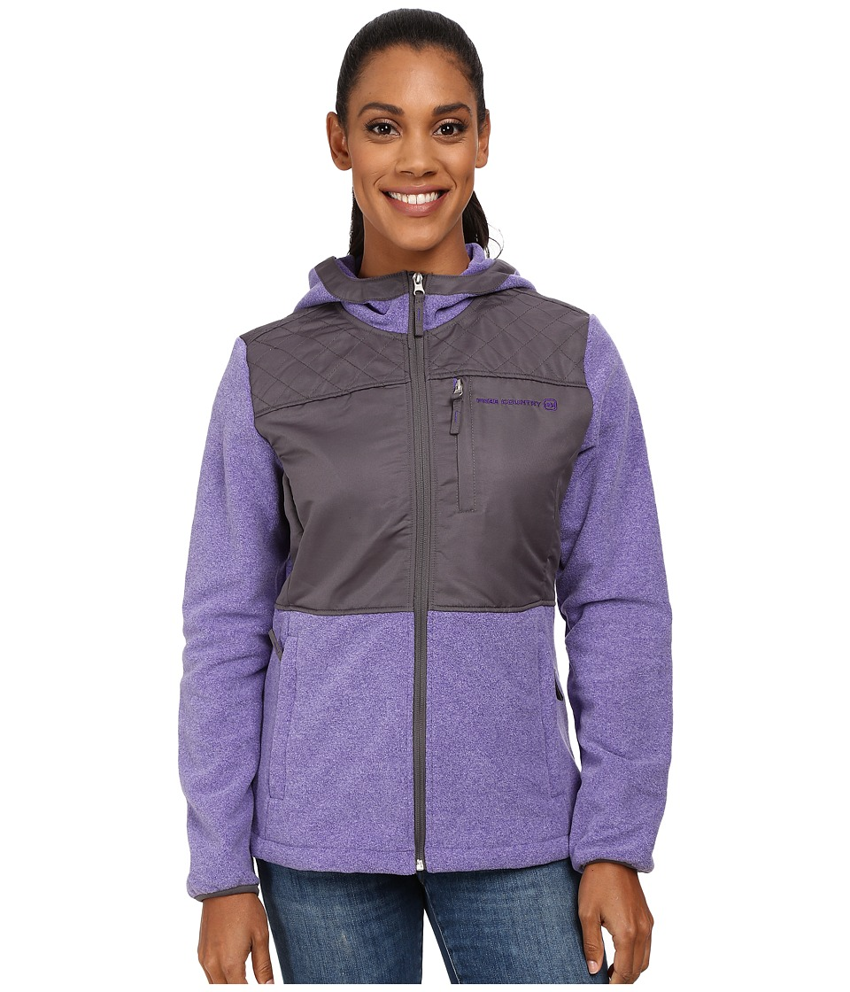 Free Country - Heather Fleece (Custom Violet/Light Grey) Women's Fleece