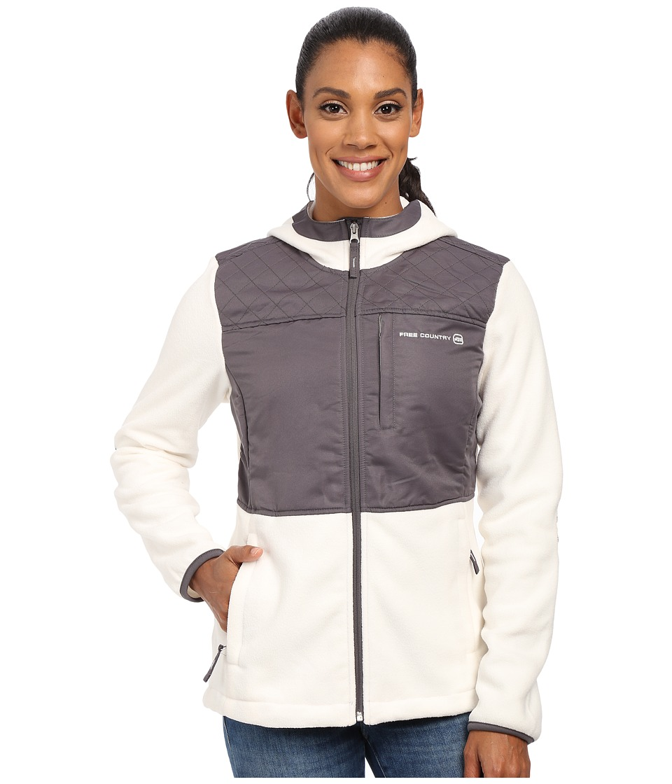 Free Country - Heather Fleece (Whisper White/Light Grey) Women's Fleece