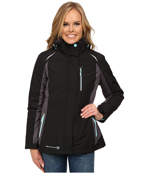 Free Country - 3-in-1 Systems Jacket (Black/Mineral Grey/Whisper Blue) Women