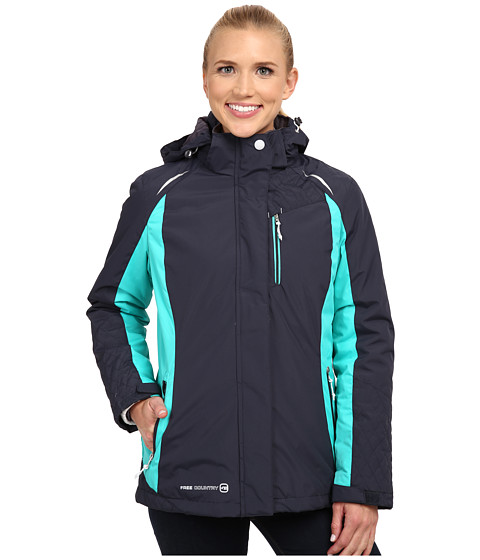 Free Country - 3-in-1 Systems Jacket (Gunmetal/Bermuda/White) Women