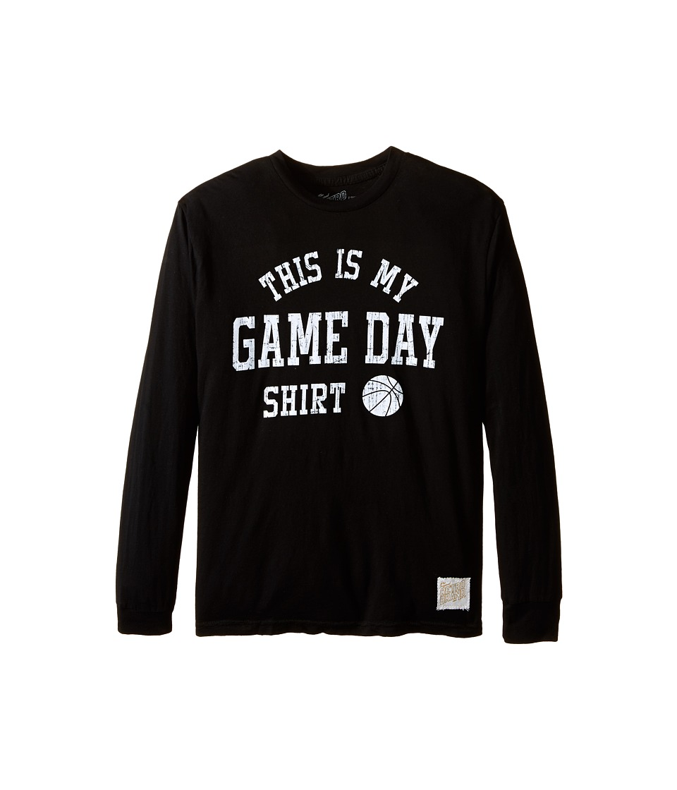 The Original Retro Brand Kids - This Is My Game Day Long Sleeve T-Shirt (Big Kids) (Black) Boy