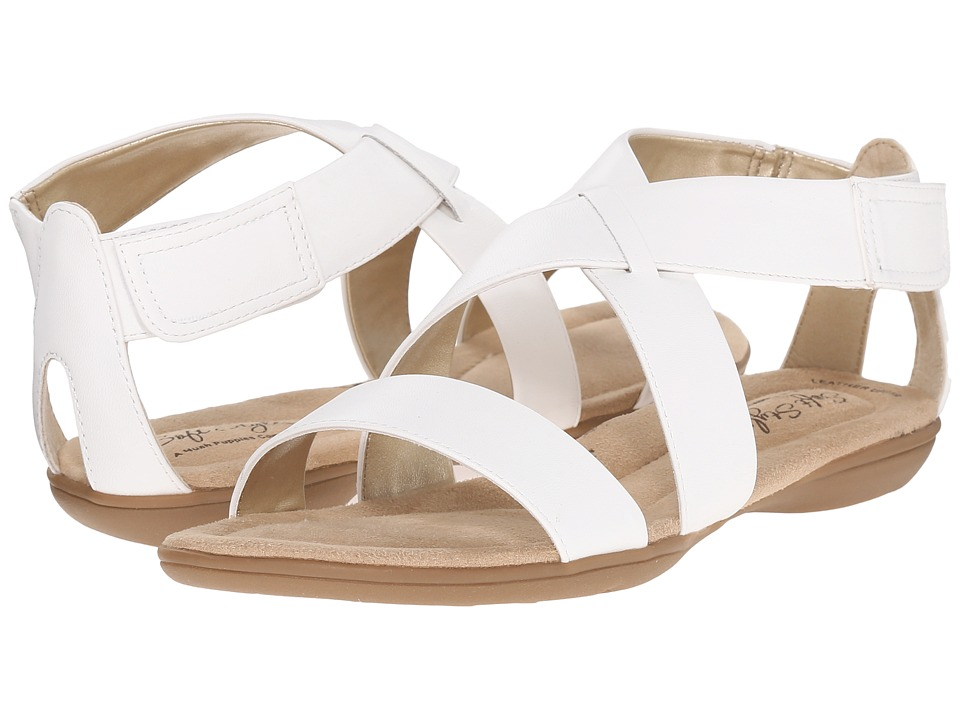 Soft Style - Eriel (White Leather) Women's Sandals