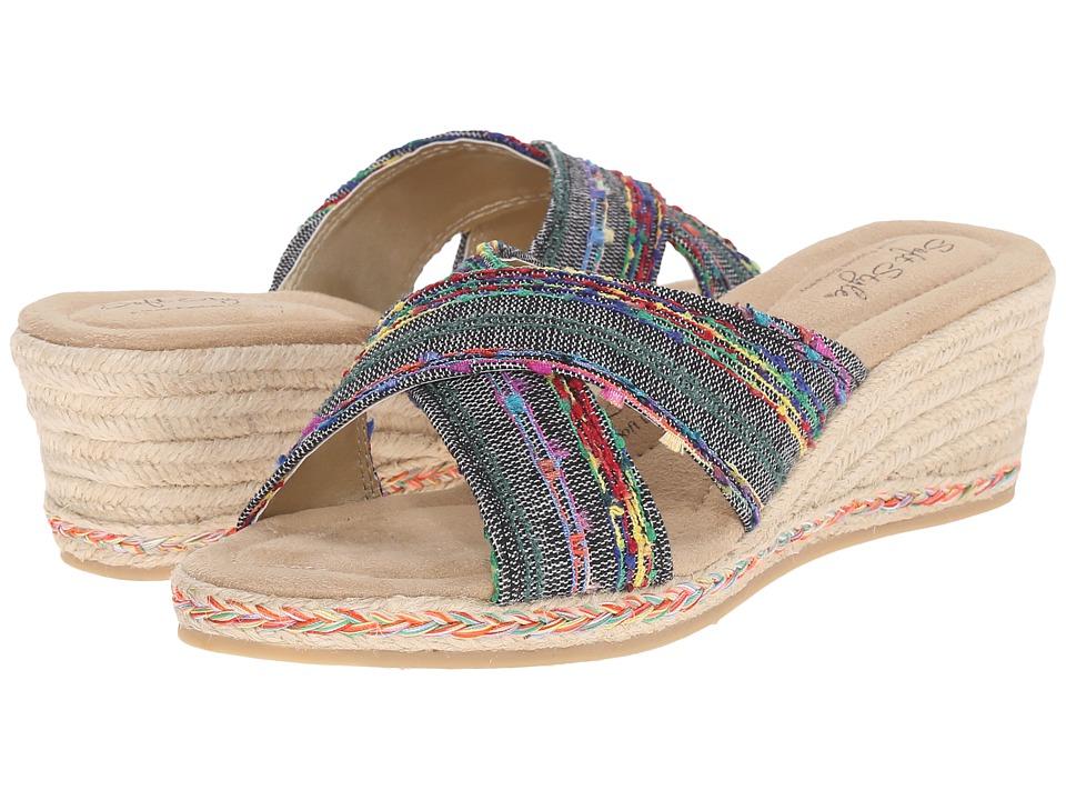 Soft Style - Sade (Black Fringe) Women's Sandals