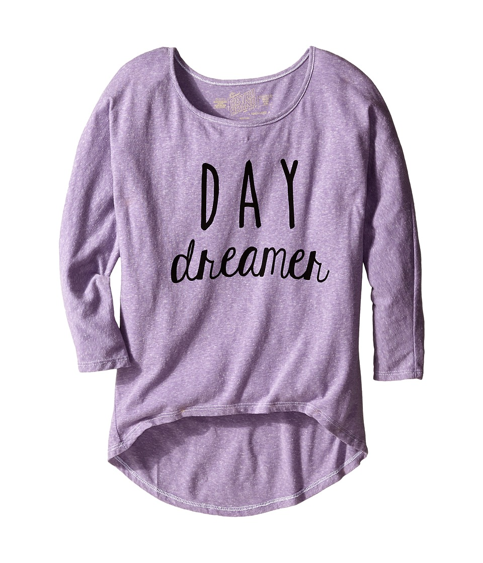 The Original Retro Brand Kids - Day Dreamer Dolman Pullover (Big Kids) (Streaky Purple) Girl