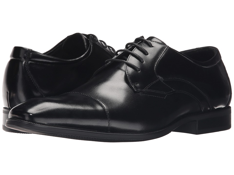 Stacy Adams - Fitzgerald (Black) Men's Lace Up Cap Toe Shoes
