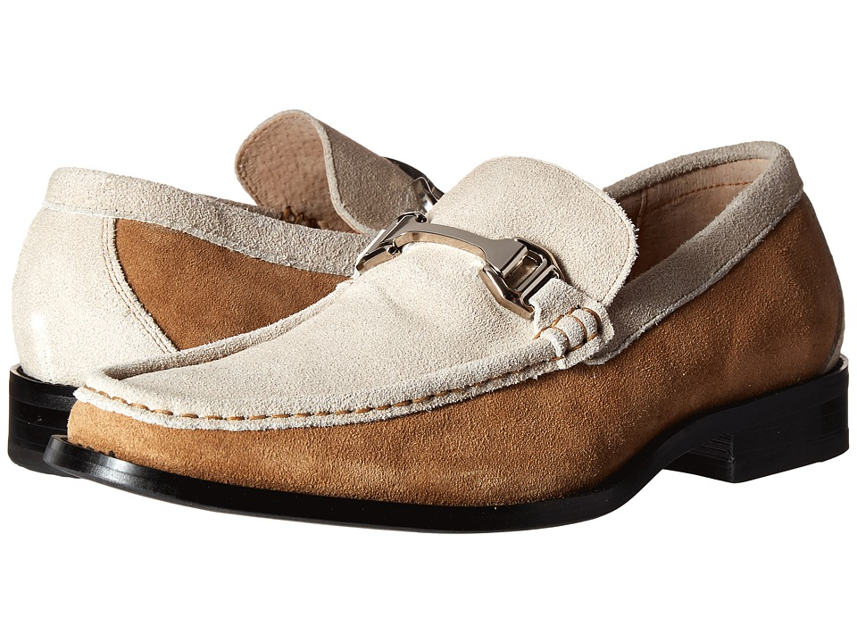 Stacy Adams - Flynn (Sand/Oyster Suede) Men's Slip on Shoes