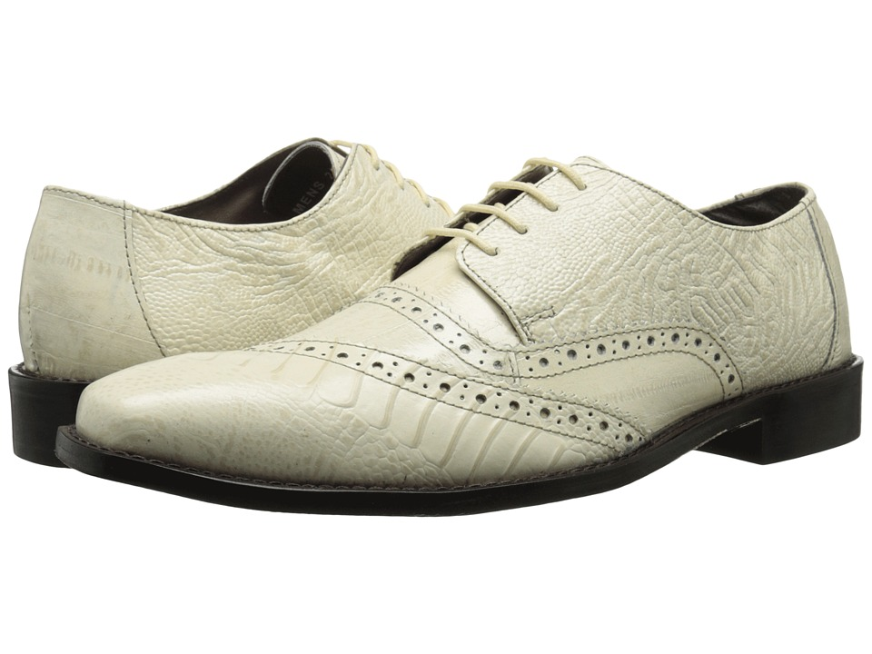 Stacy Adams - Garzon (Ivory) Men's Lace Up Cap Toe Shoes