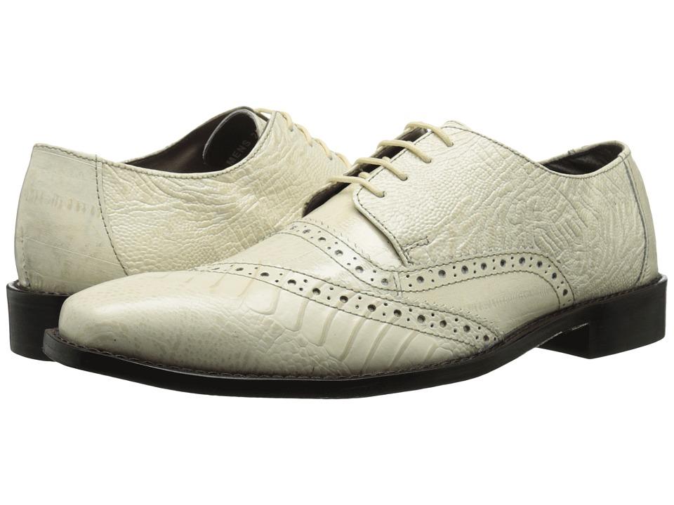 Stacy Adams - Garzon (Ivory) Men's Lace Up Cap Toe Shoes