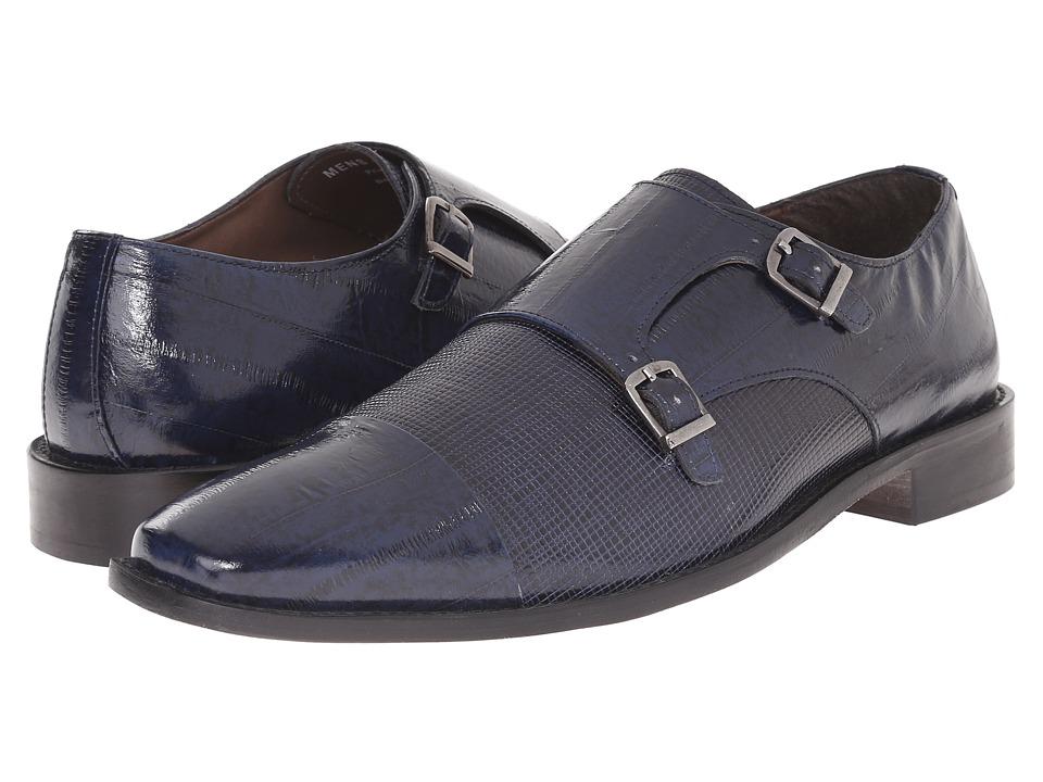 Stacy Adams - Gardello (Blue) Men's Monkstrap Shoes