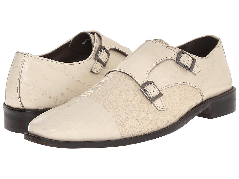 Stacy Adams - Gardello (Ivory) Men's Monkstrap Shoes
