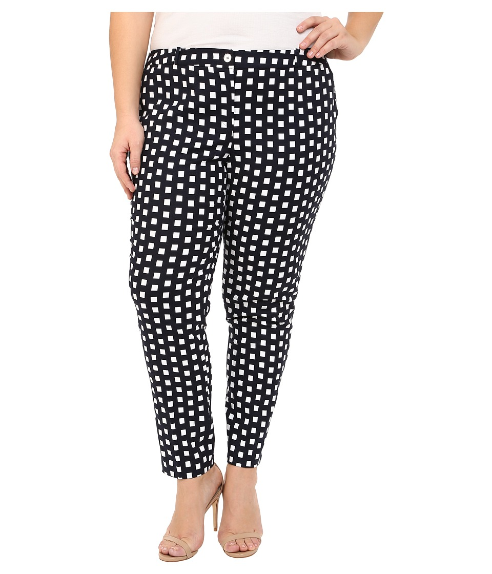 MICHAEL Michael Kors - Plus Size Roxy Print Miranda Pants (New Navy) Women's Casual Pants