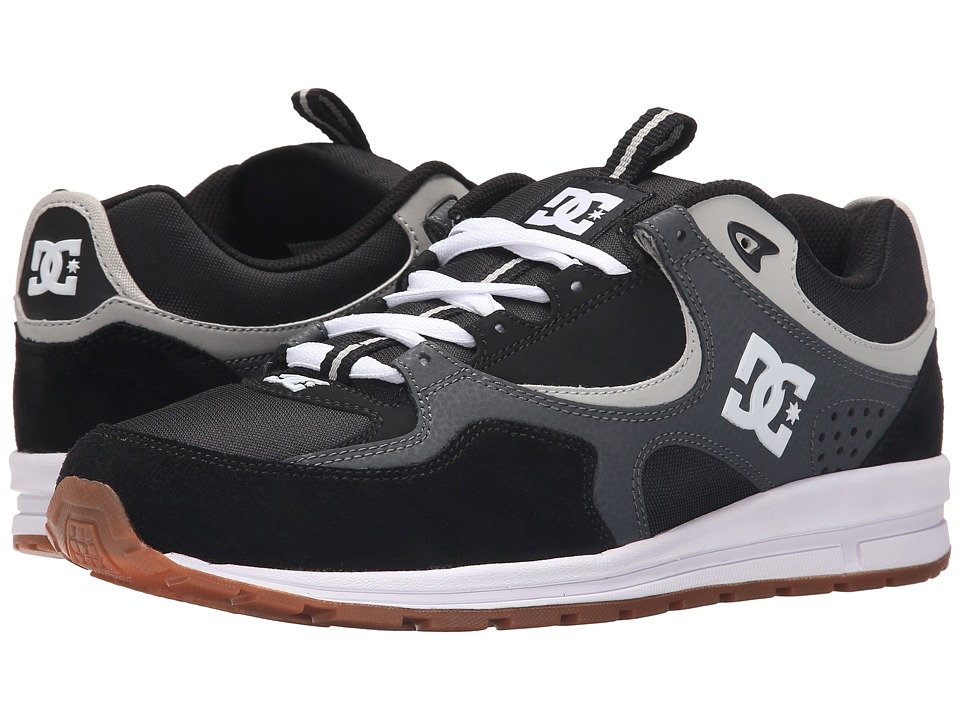 DC - Kalis Lite (Black/Grey/Grey) Men's Skate Shoes
