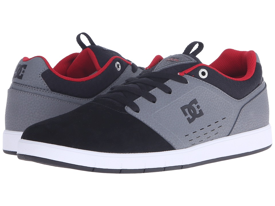 DC - Cole Signature (Grey/Black/Red) Men's Skate Shoes