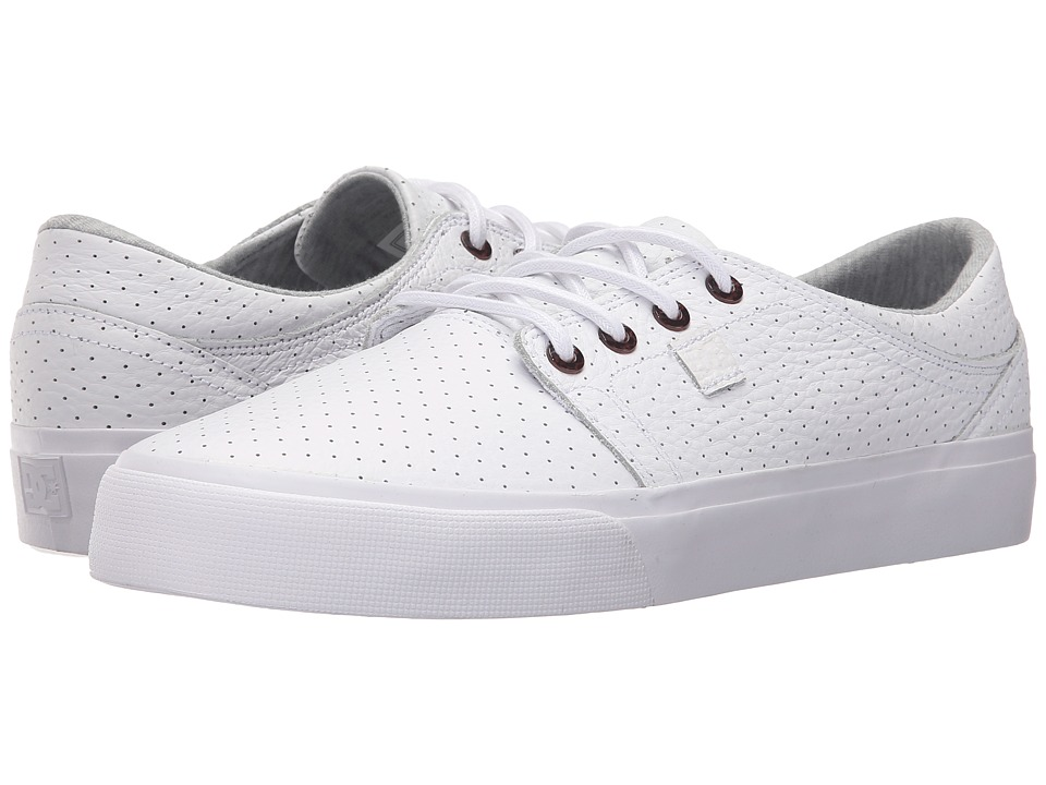 DC - Trase LX (White/Armor) Lace up casual Shoes