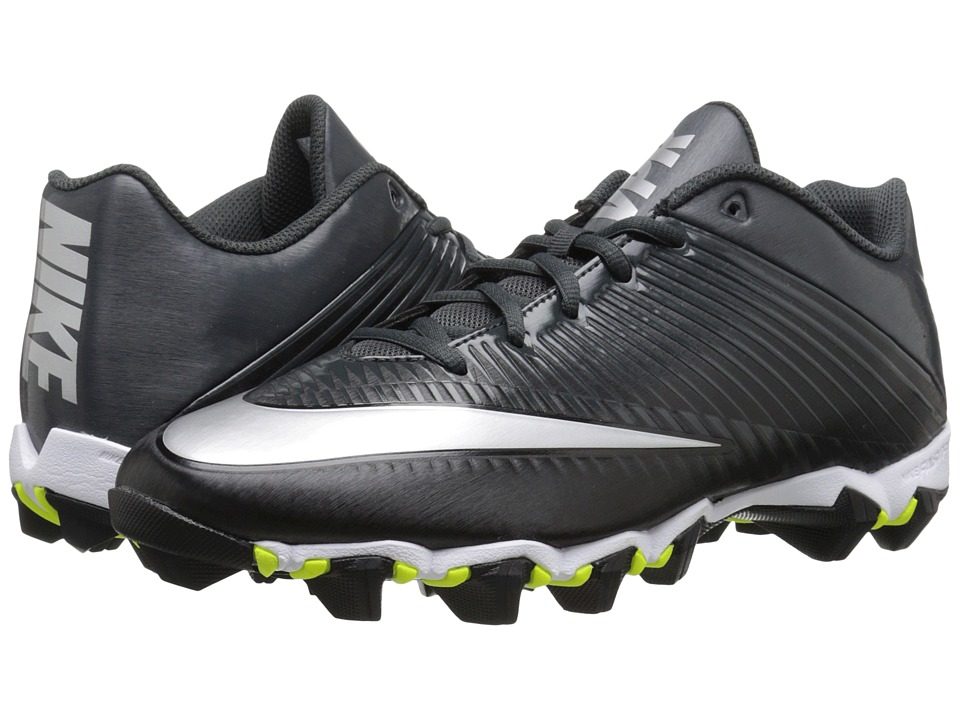 Nike - Vapor Shark 2 (Black/Anthracite/Metallic Silver) Men's Cleated Shoes