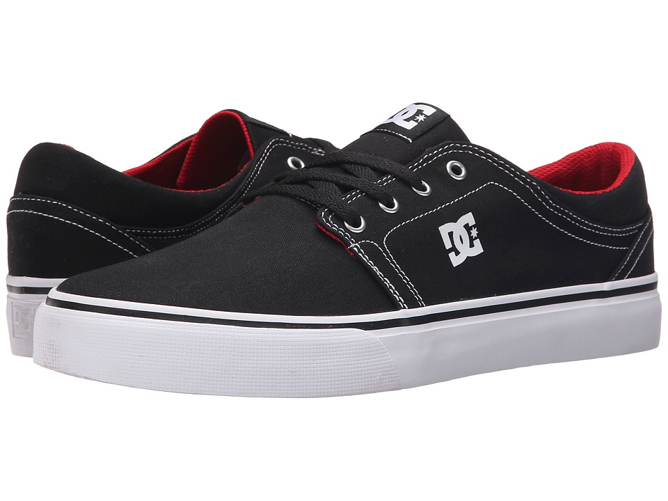 DC - Trase TX (Black/White/Red) Skate Shoes
