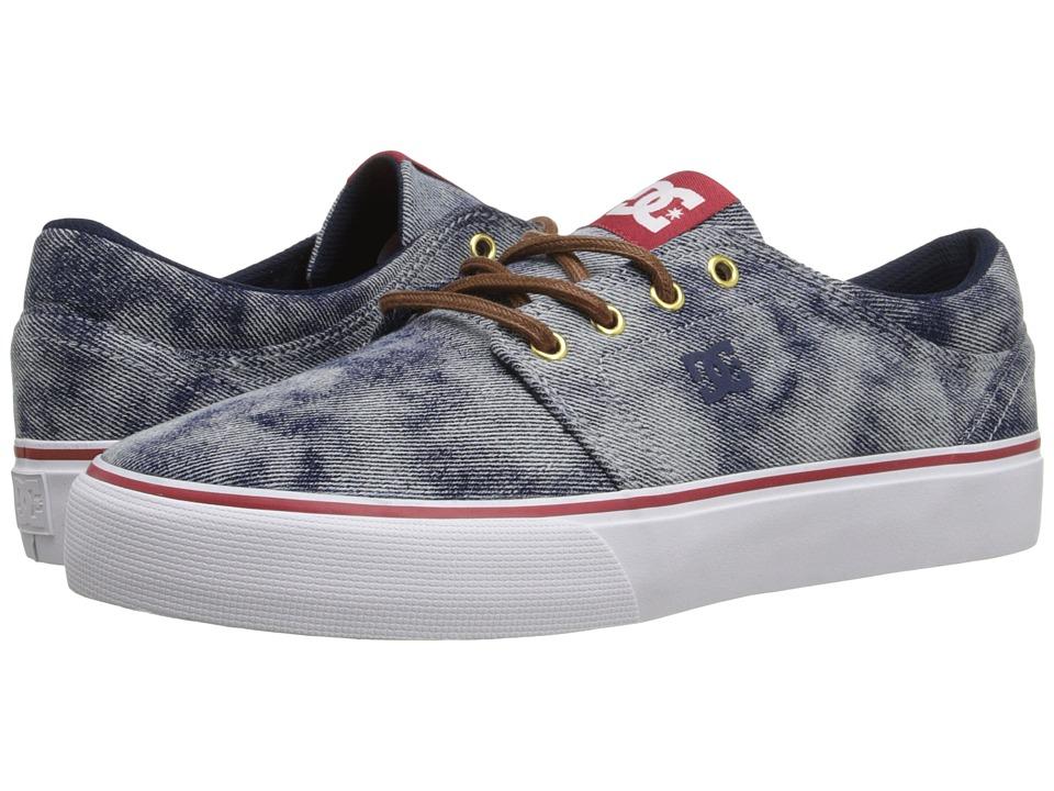 DC - Trase TX SE (Indigo Bleached) Skate Shoes