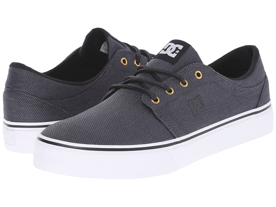 DC - Trase TX SE (Black/Gunmetal/White) Skate Shoes