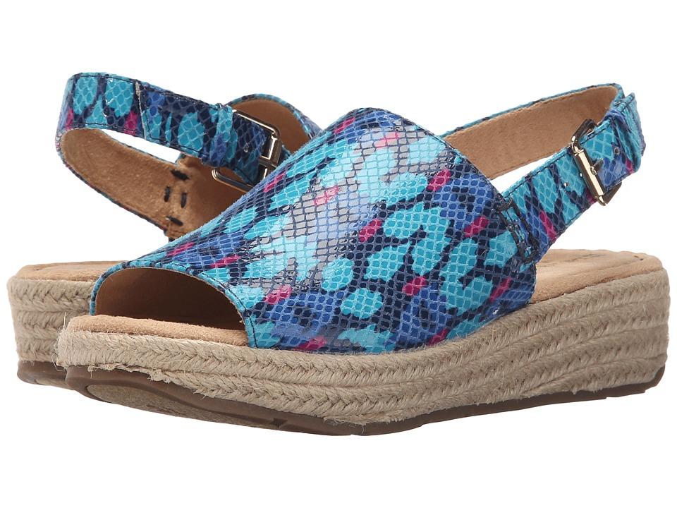 Naturalizer - Praline (Blue Multi Ethno Ikat Printed Snake) Women's Sandals