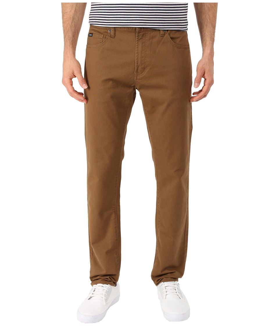 RVCA - Daggers Twill Pants (Bark) Men's Casual Pants