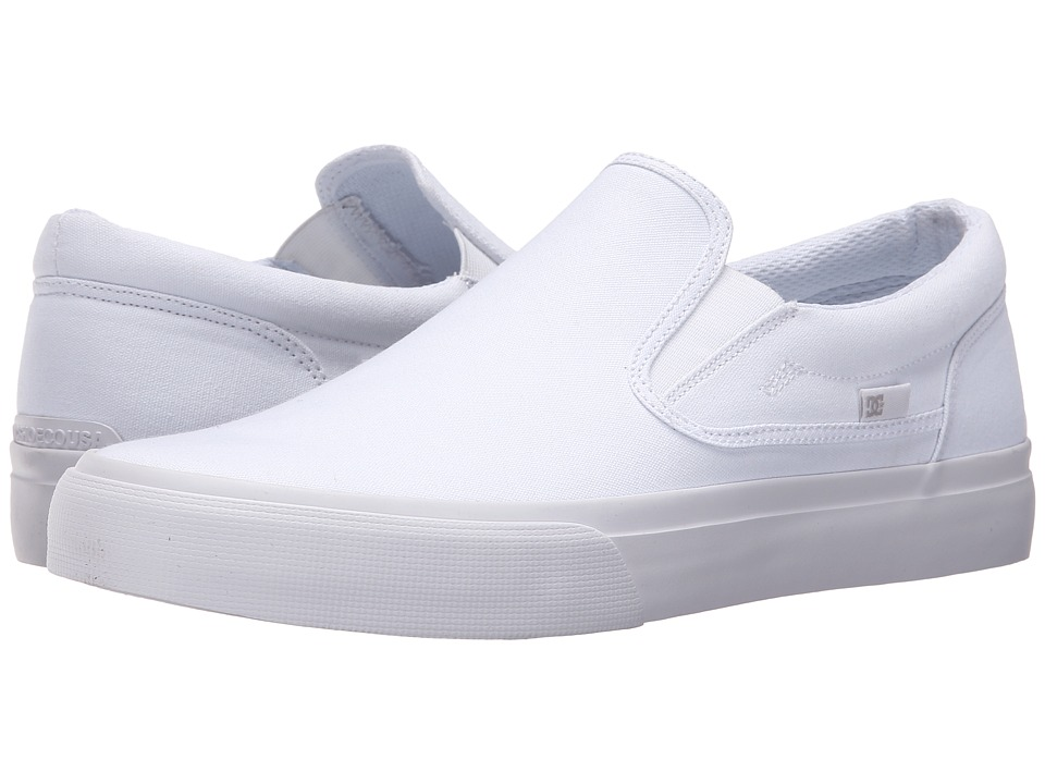 DC - Trase Slip-On TX (White/White) Skate Shoes